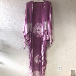 Free People Spellbound Tie Dye Kimono Coverup
